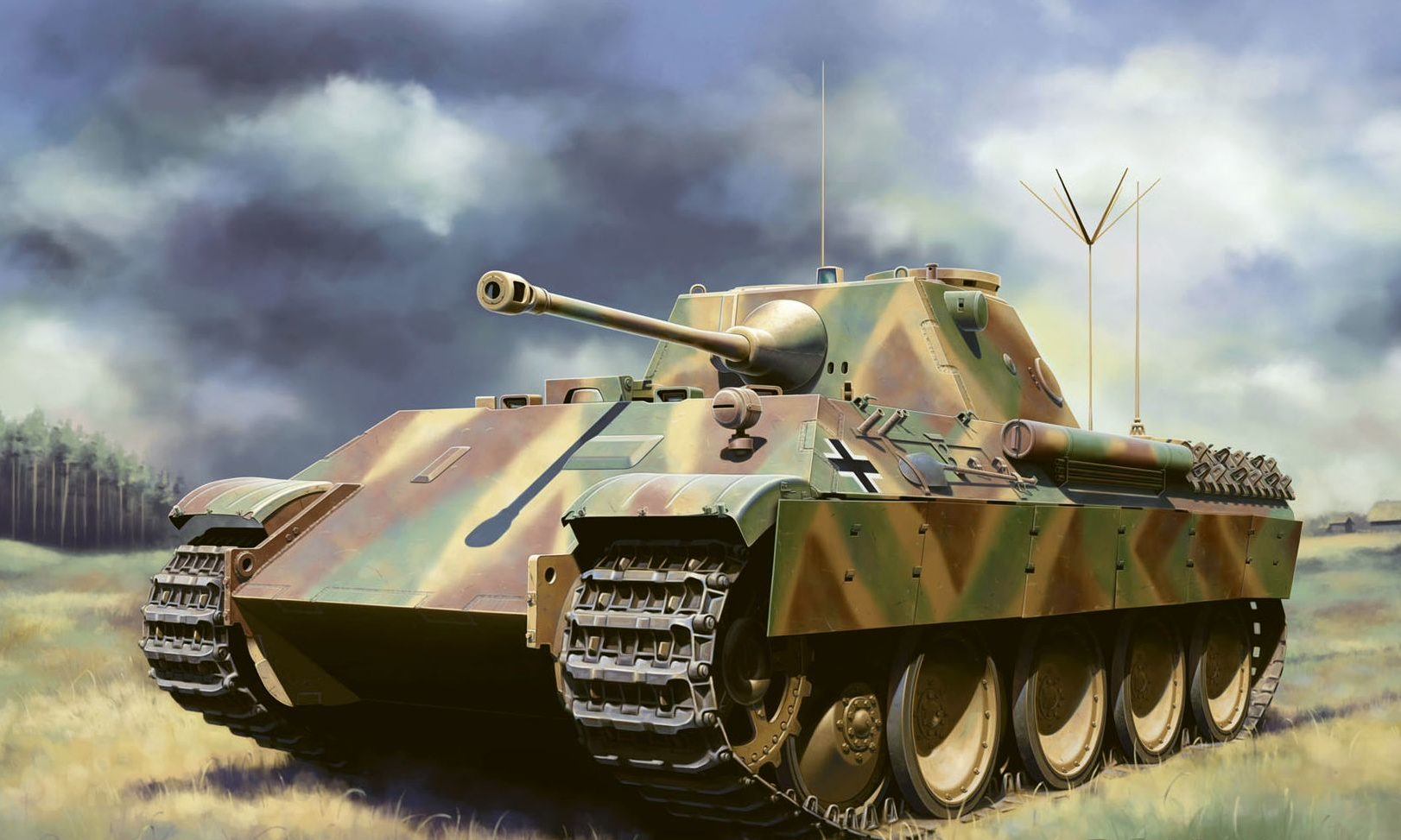 Zierfuss Filip. Танк Panther Ausf.D V2.