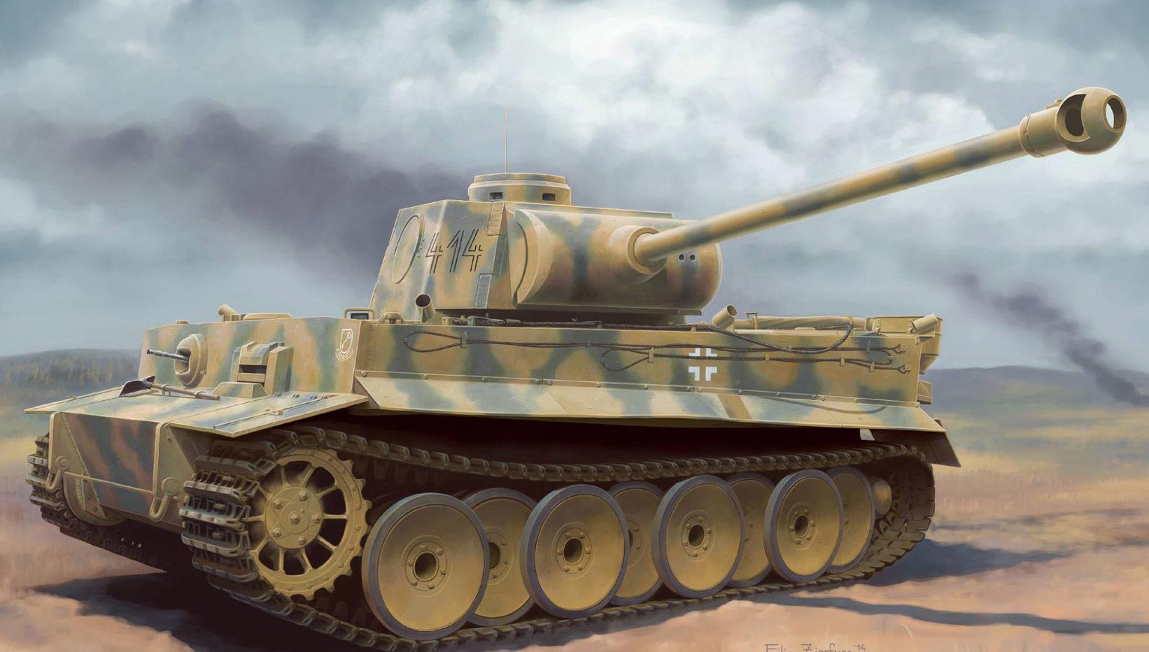 Zierfuss Filip. Танк Tiger I Ausf. H2.