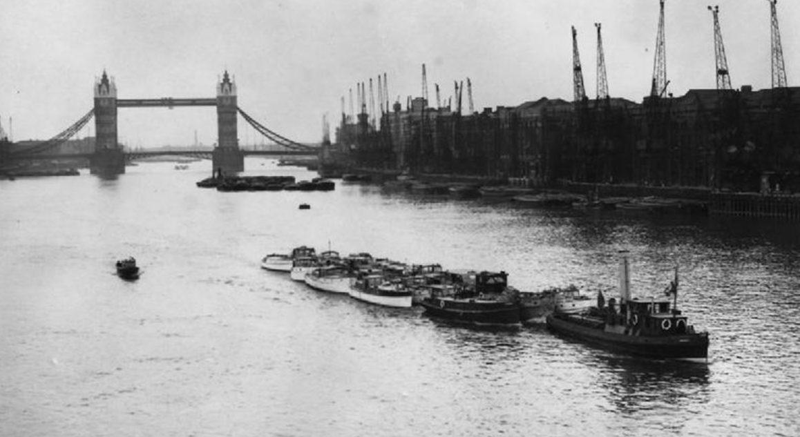 Возвращение катеров на Темзу в Лондоне, после участия в эвакуации. 4 июня 1940 г.