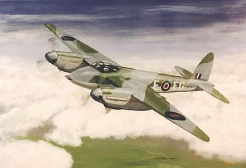 Driver Chris. Истребитель Havilland Mosquito.