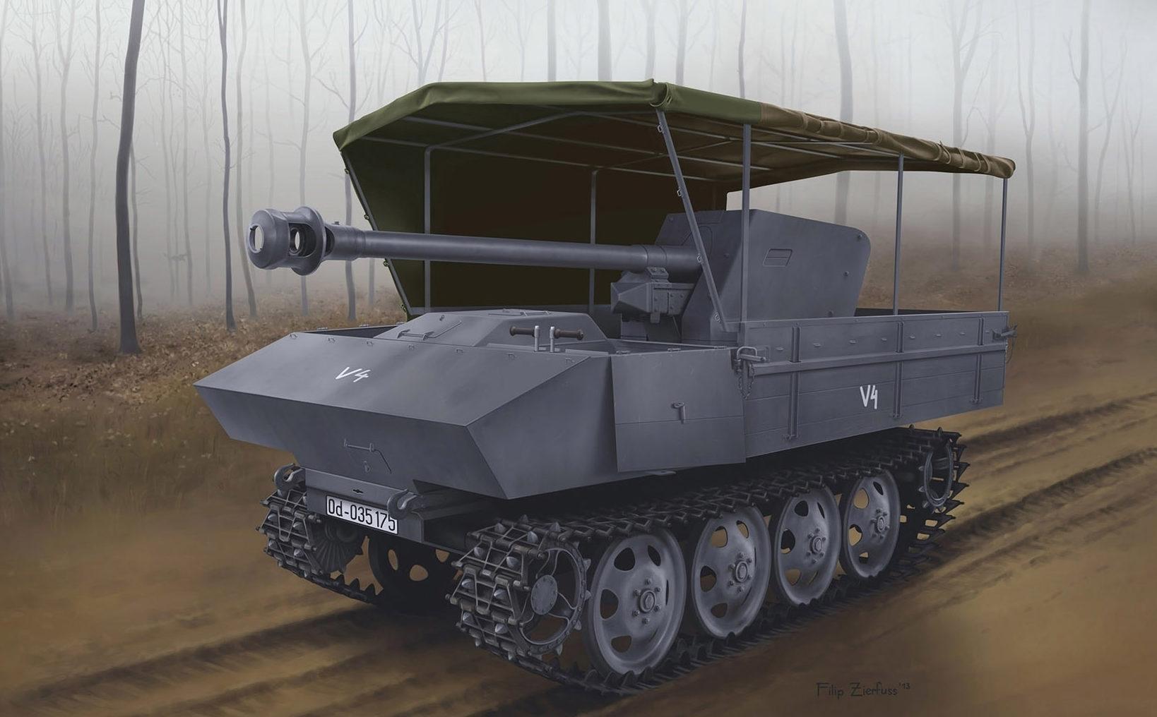 Zierfuss Filip. Противотанковая САУ 7.5cm PaK 40/4.
