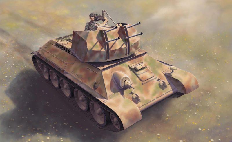 Zierfuss Filip. ЗСУ Flakpanzer T-34r.