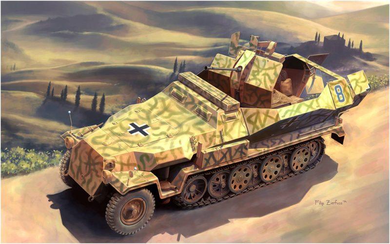 Zierfuss Filip. Бронетранспортер Sd Kfz 251/17 Ausf C.