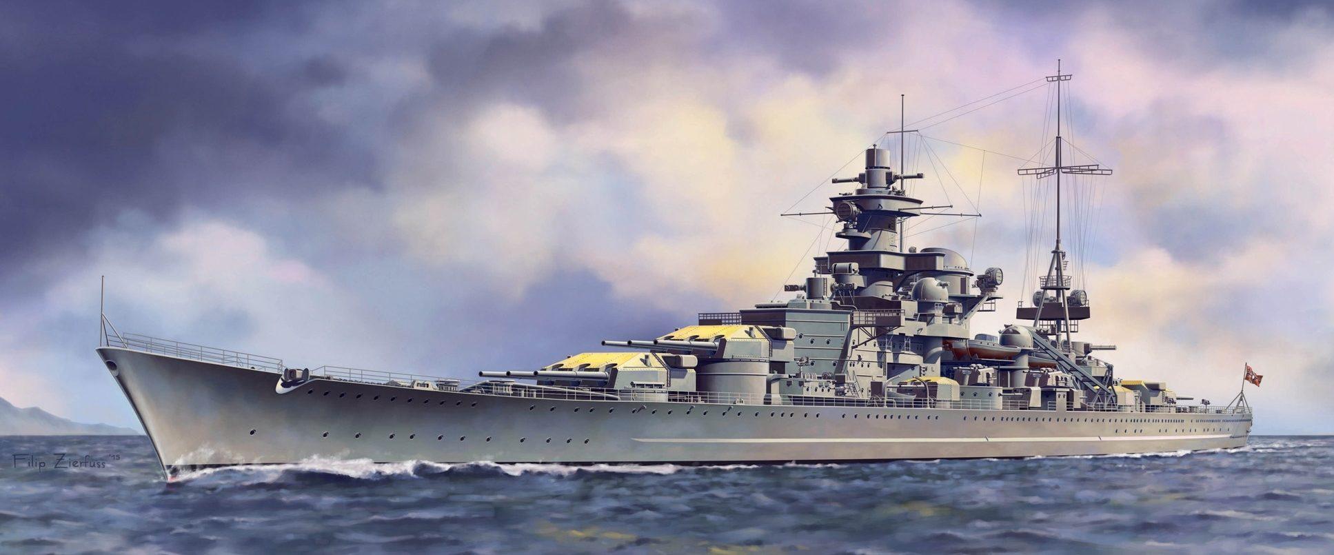 Zierfuss Filip. Линкор Scharnhorst.