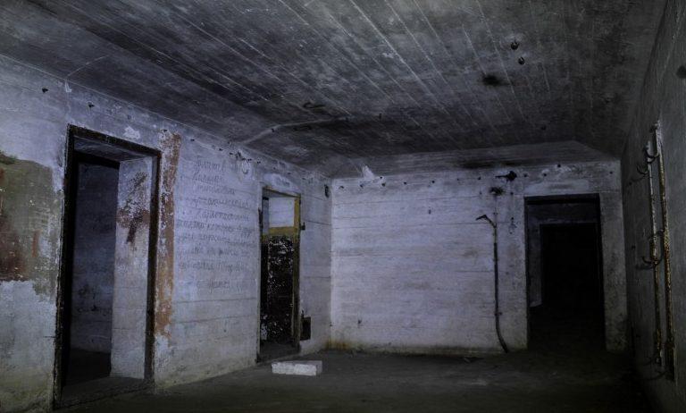Подземные помещения батареи.