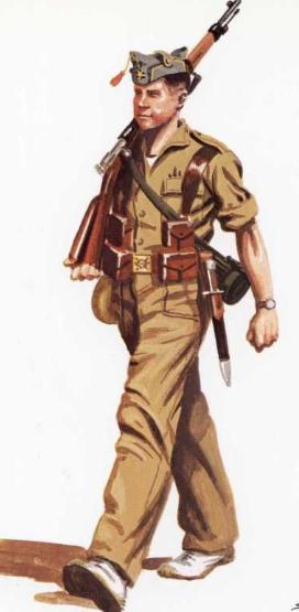 Пехотинцы и добровольцы.