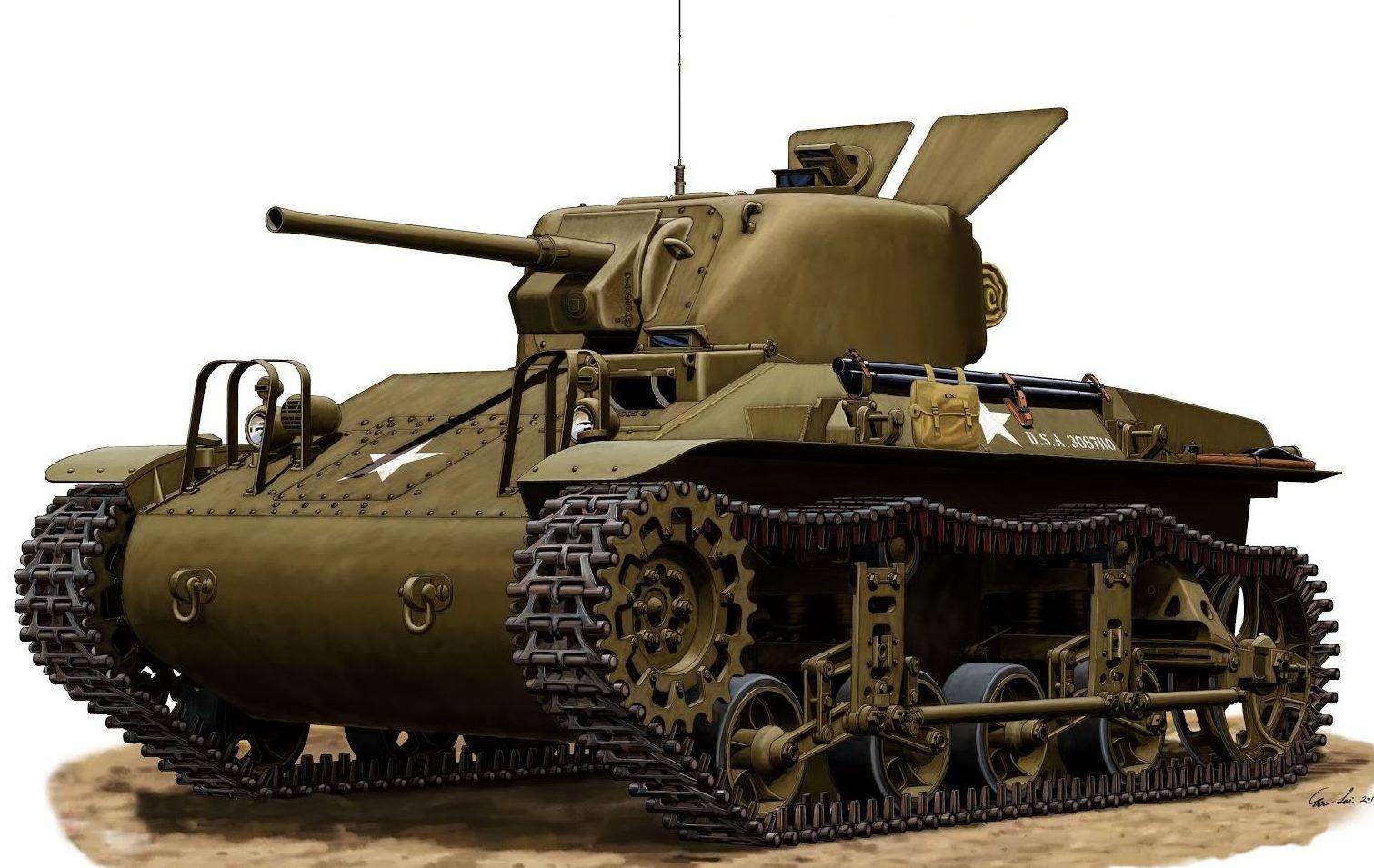 Lei Su. Танк M-22 (T9E1).