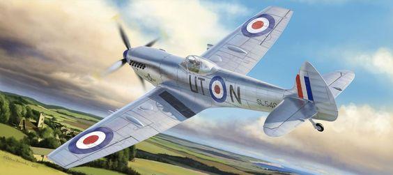 Borecka Katerina. Истребитель Spitfire Mk. XVI.