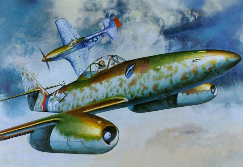 Heum Chang. Реактивный истребитель Ме-262-А.