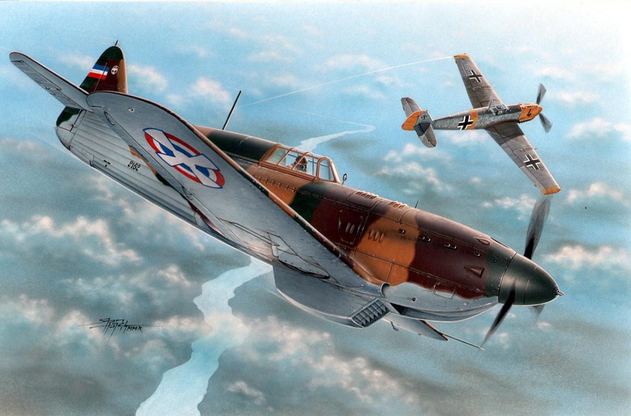 Hajek Stanislav. Истребитель Bf-109E.