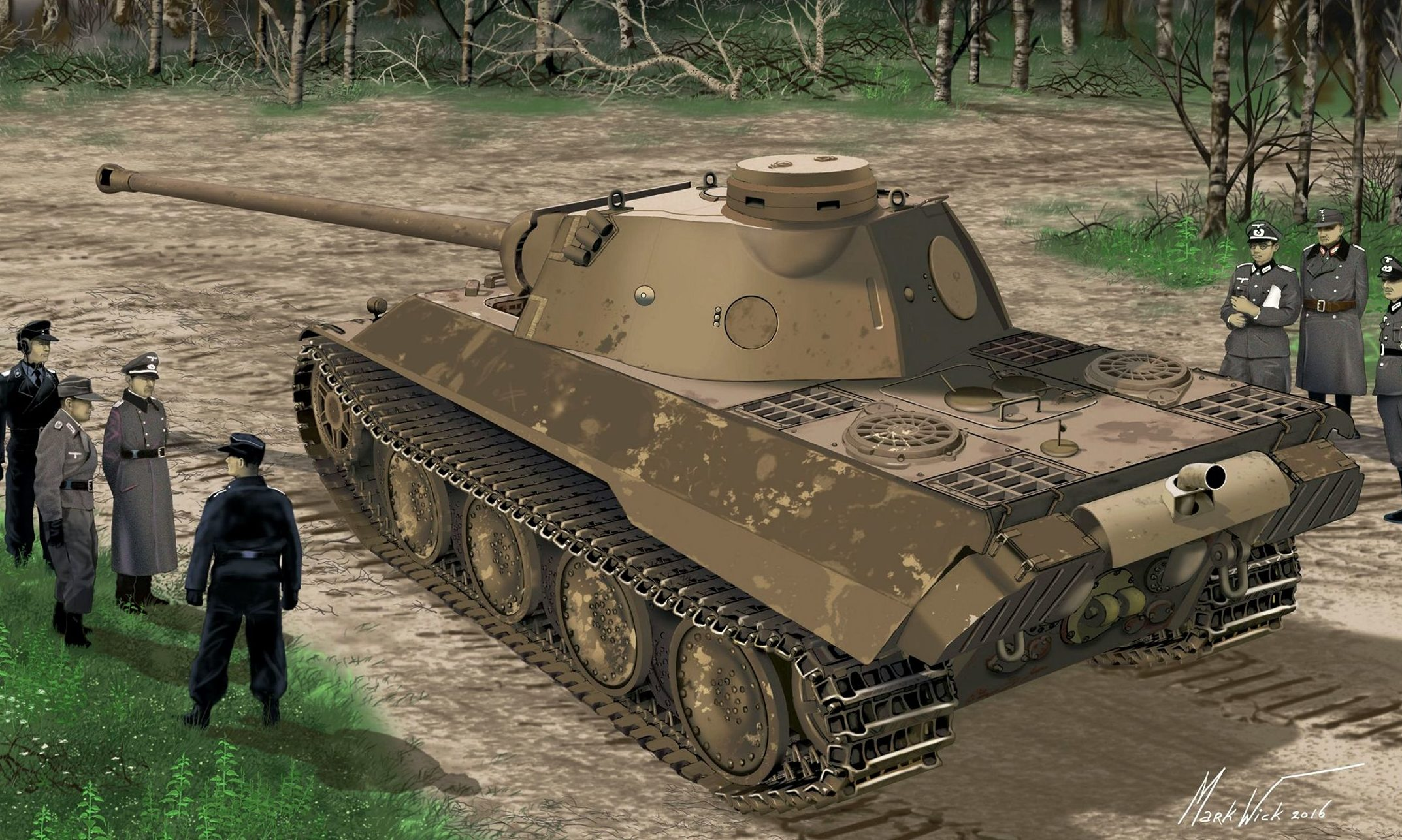 Markwick Michael. Танк Panther Ausf. D.