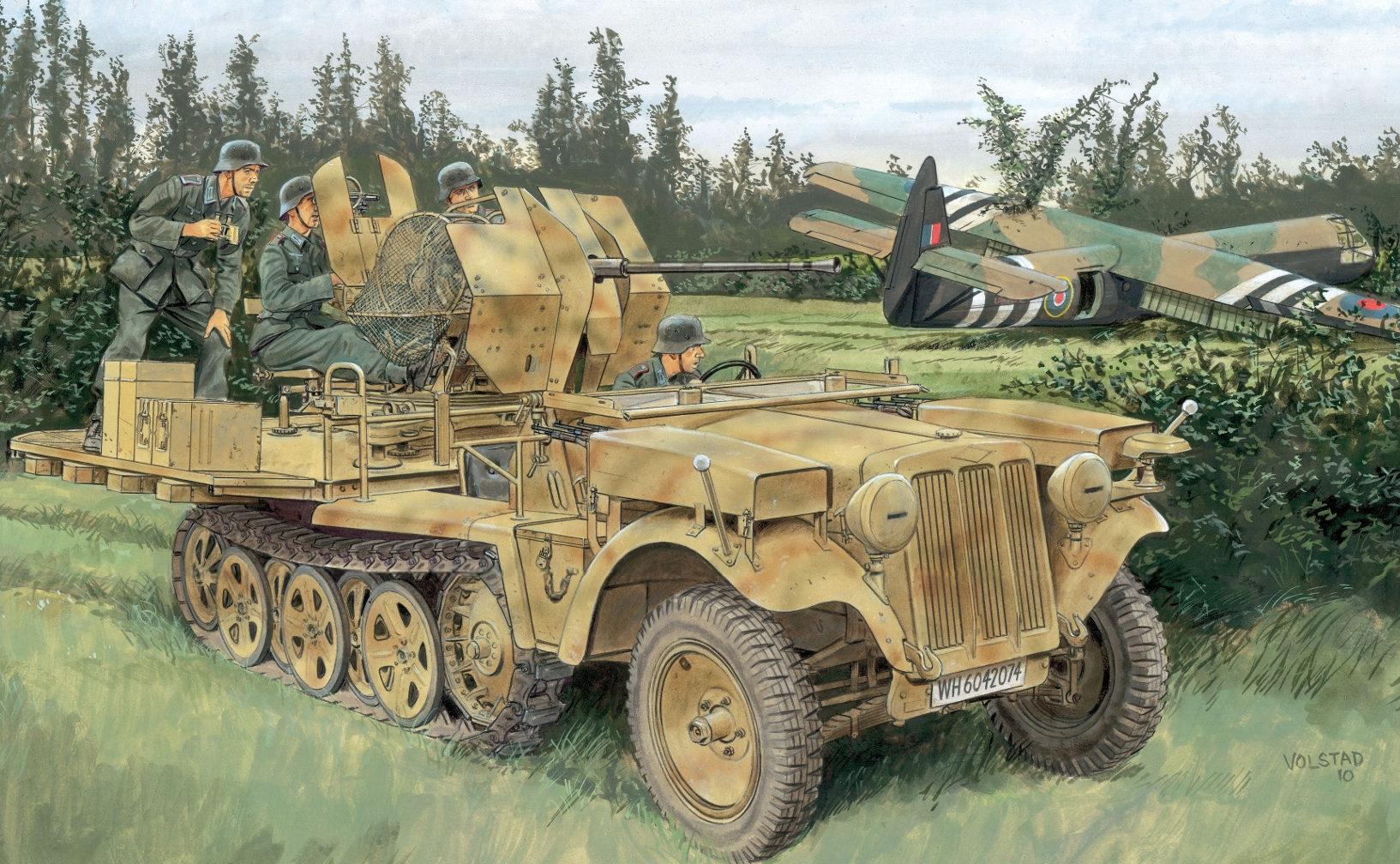 Volstad Ronald. CАУ Sd.Kfz. 10/5 с пушкой Flak 38.