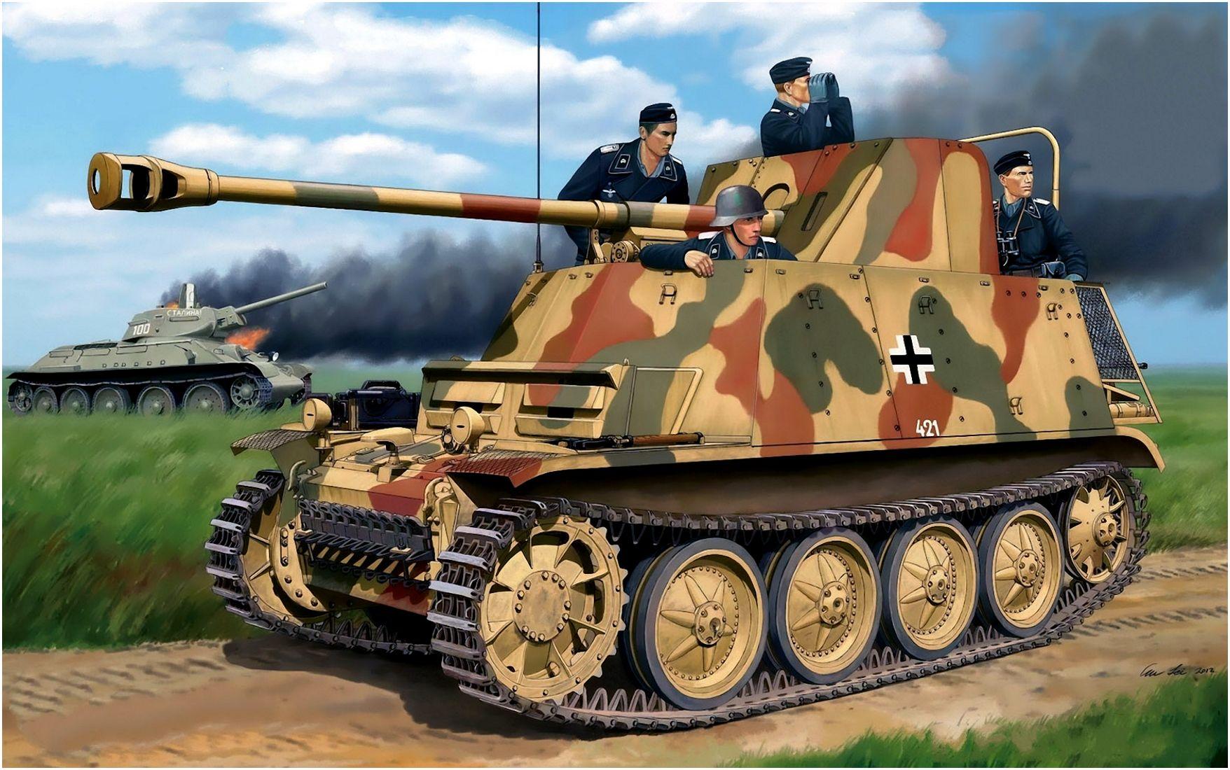 Lei Su. САУ Marder II Ausf. D.