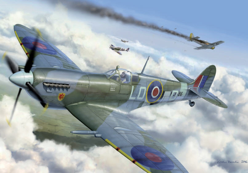 Borecka Katerina. Истребитель Spitfire Mk.IX.