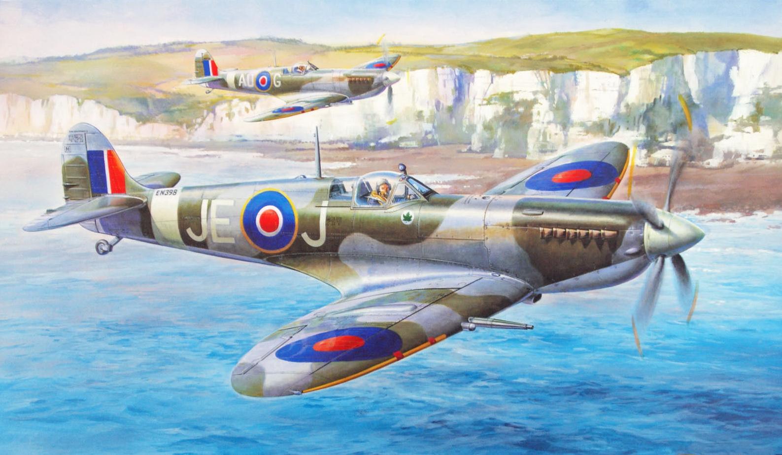 Onishi Masami. Истребитель «Spitfire Mk.IXc».