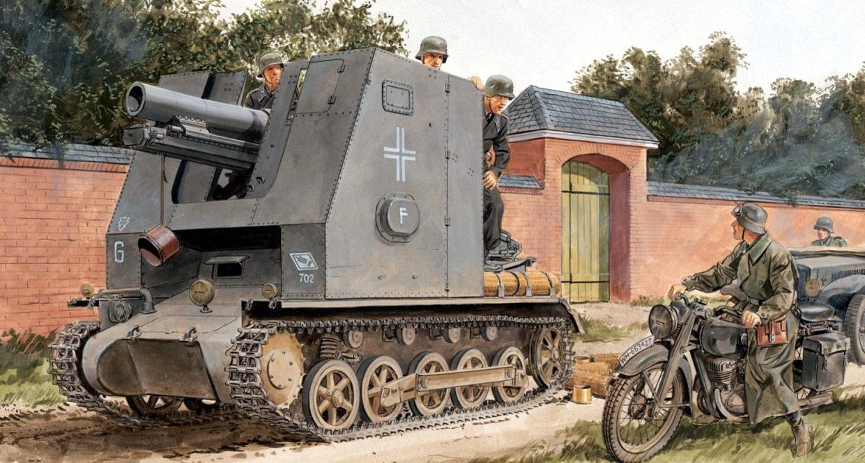 Volstad Ronald. САУ sIG33 на базе PzKpfw I Ausf B, Bison I.