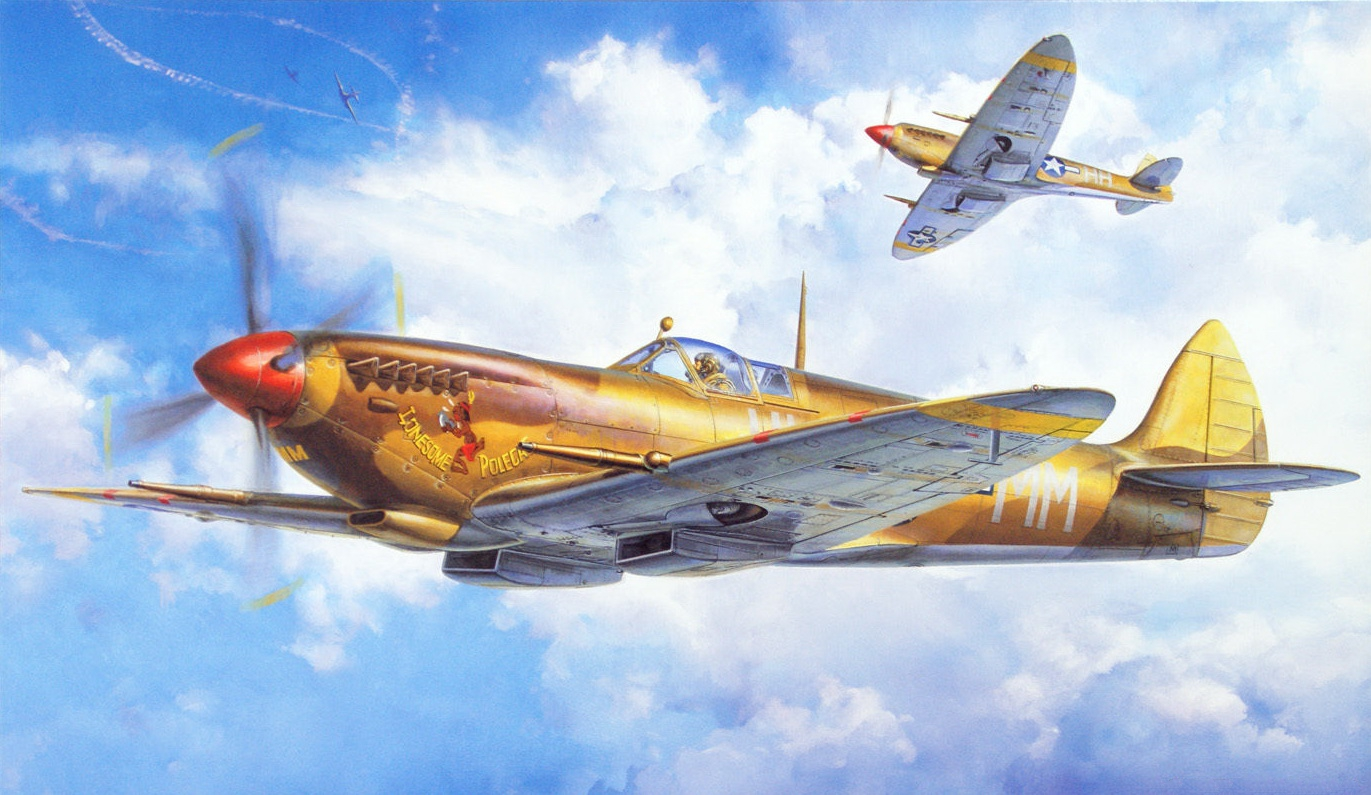 Onishi Masami. Истребитель «Spitfire Mk.VIII».