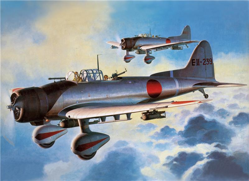 Shigeo Koike. Палубные бомбардировщики Aichi D-3A.