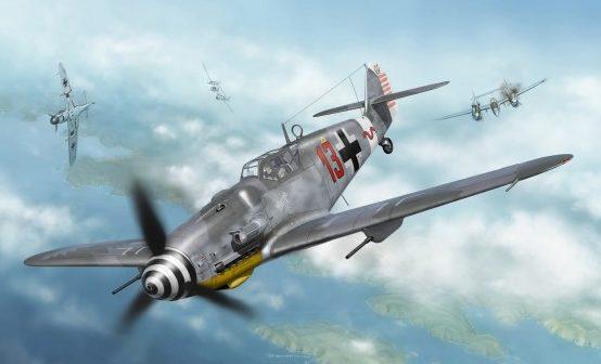 Borecka Katerina. Истребитель Bf-109G-6.