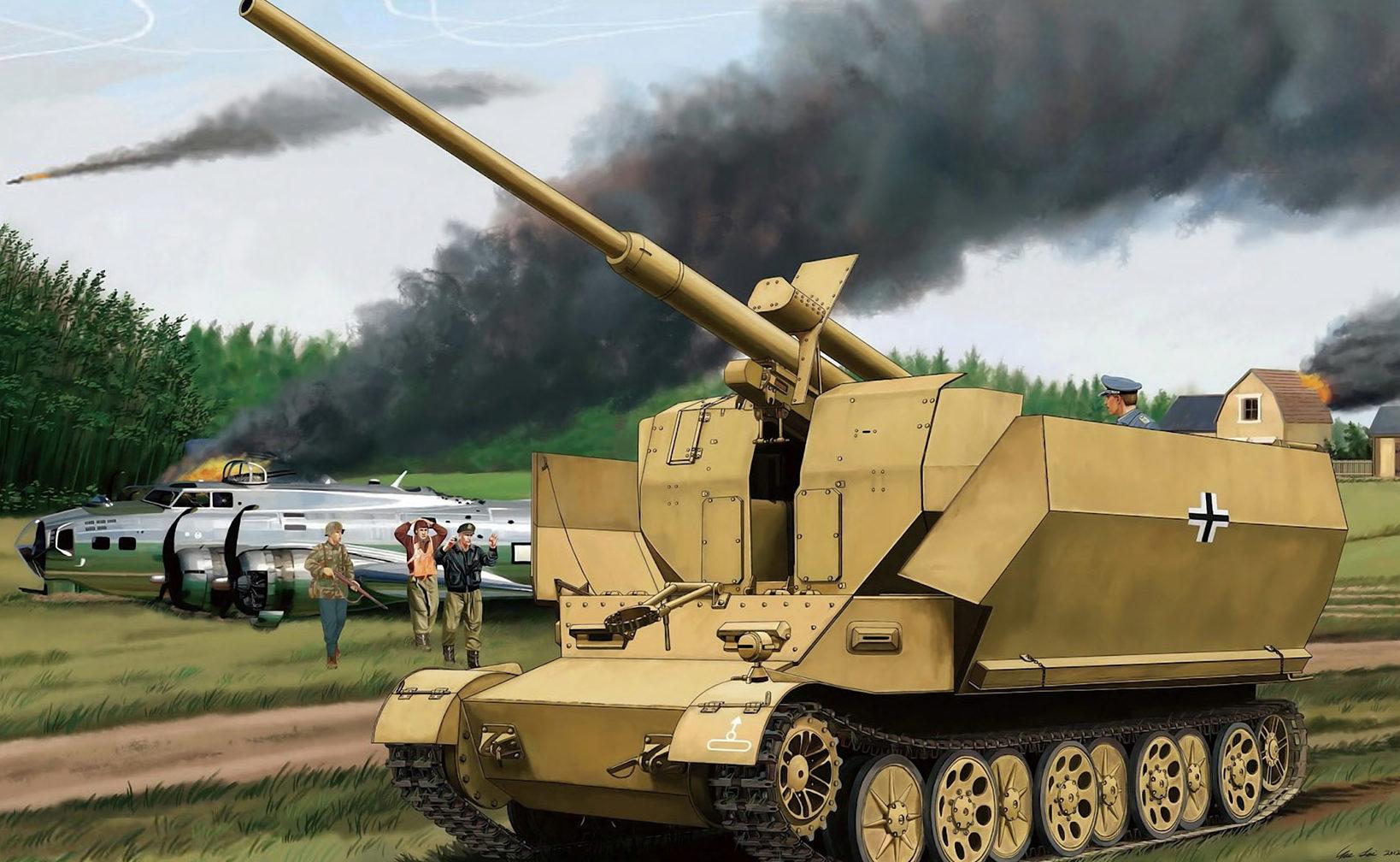 Lei Su. ЗСУ 8.8cm Flak (Pz.Sfl.IVc)