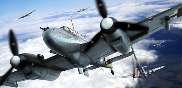 Borecka Katerina. Истребитель Bf-110G-2.