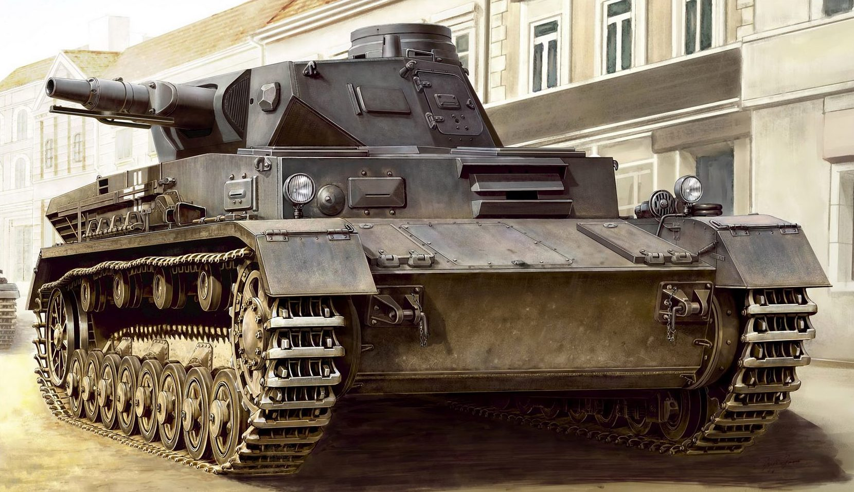 Asano Yuji. Танк Panzer IV Ausf. C.