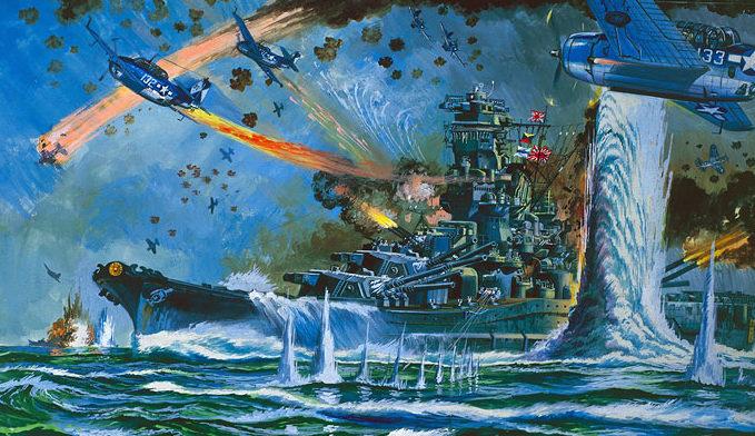 Komatsuzaki Shigeru. Атака на линкор «Yamato».