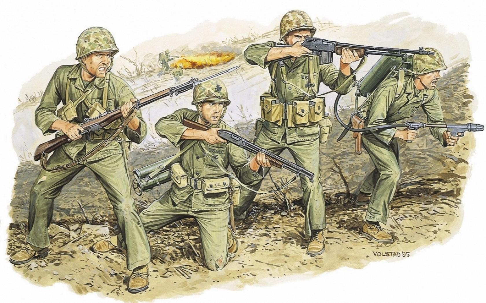 Volstad Ronald. Американские пехотинцы.