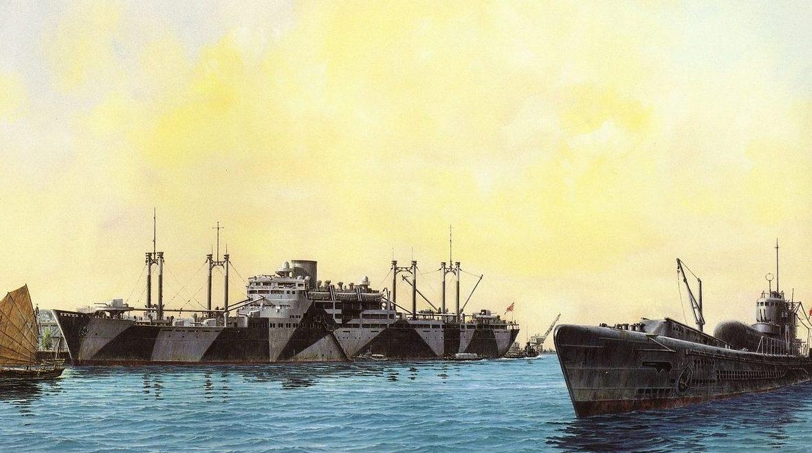 Takeshi Yuki. Вспомогательный крейсер «Hokoku Maru».