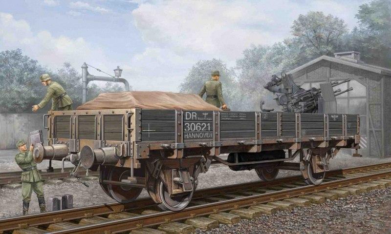 Wai Vincent. Ж.д. платформа с зенитным орудием.