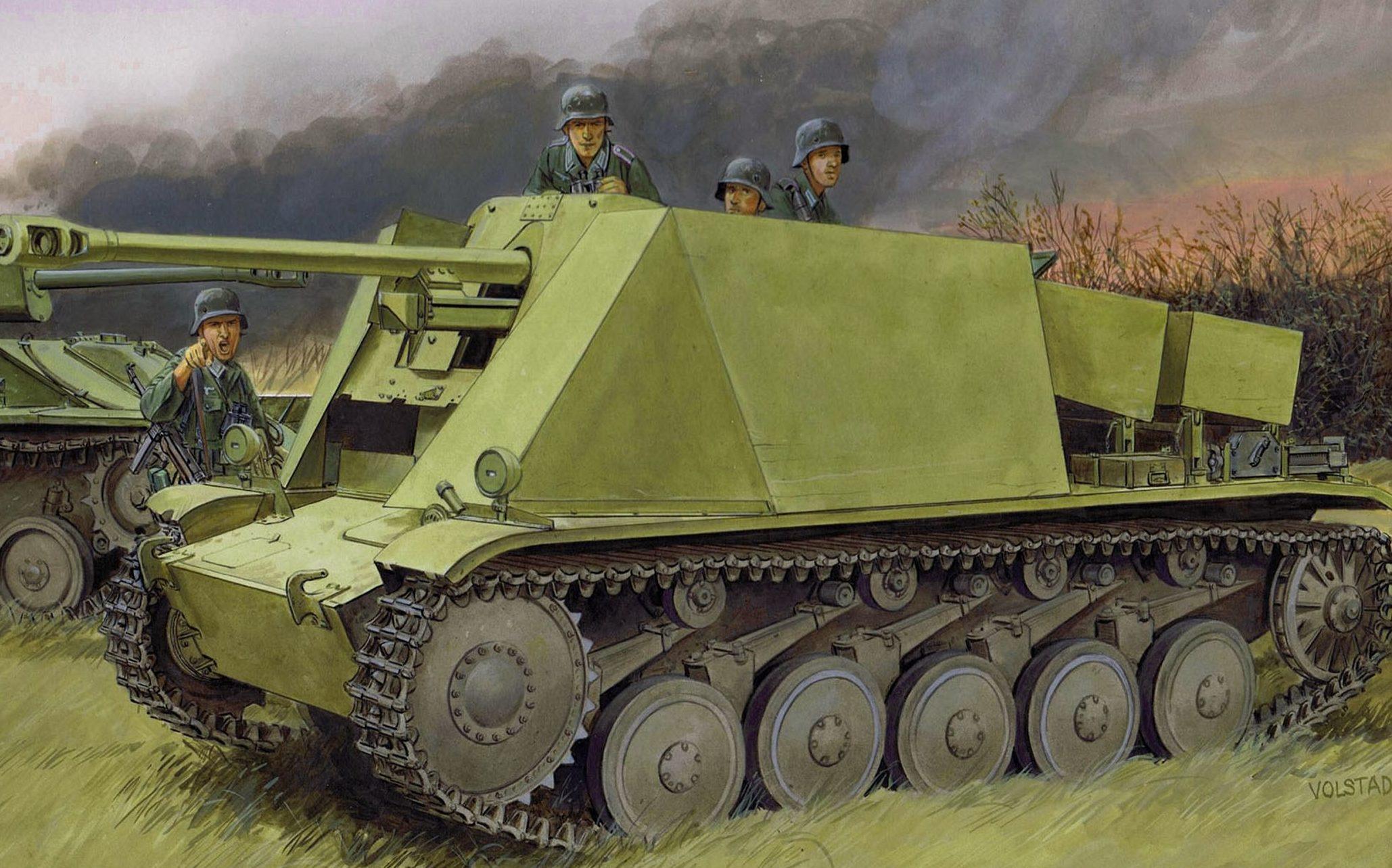 Volstad Ronald. Противотанковая САУ Pak 38 5cm.