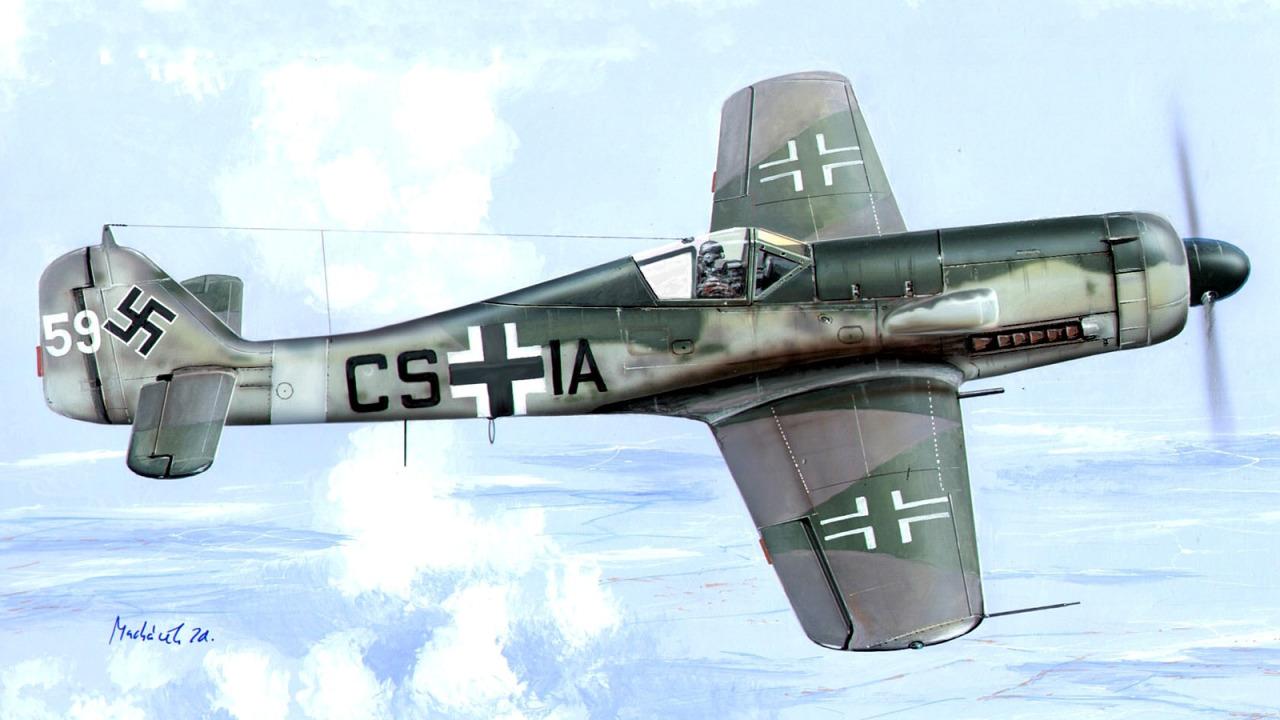 Machácek Zdenek. Истребитель Fw-190D.