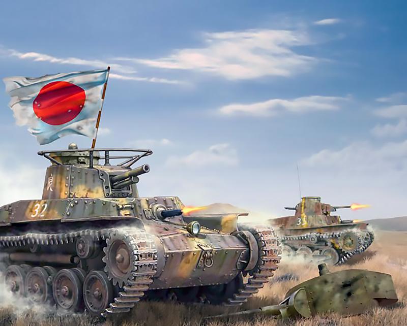 Renzo Kita. Атака танков.