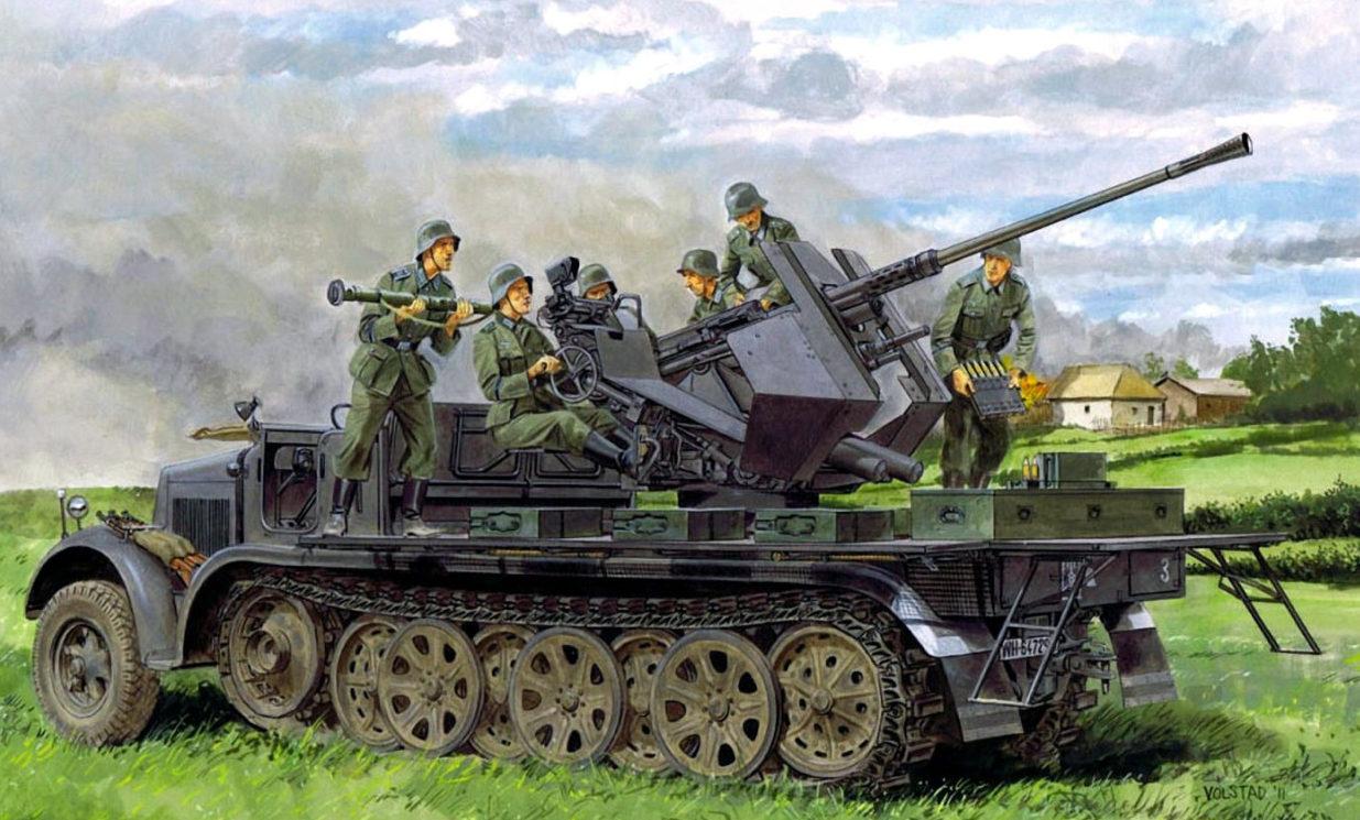 Volstad Ronald. ЗСУ 3.7-cm FlaK 36 на базе SdKfz 7.