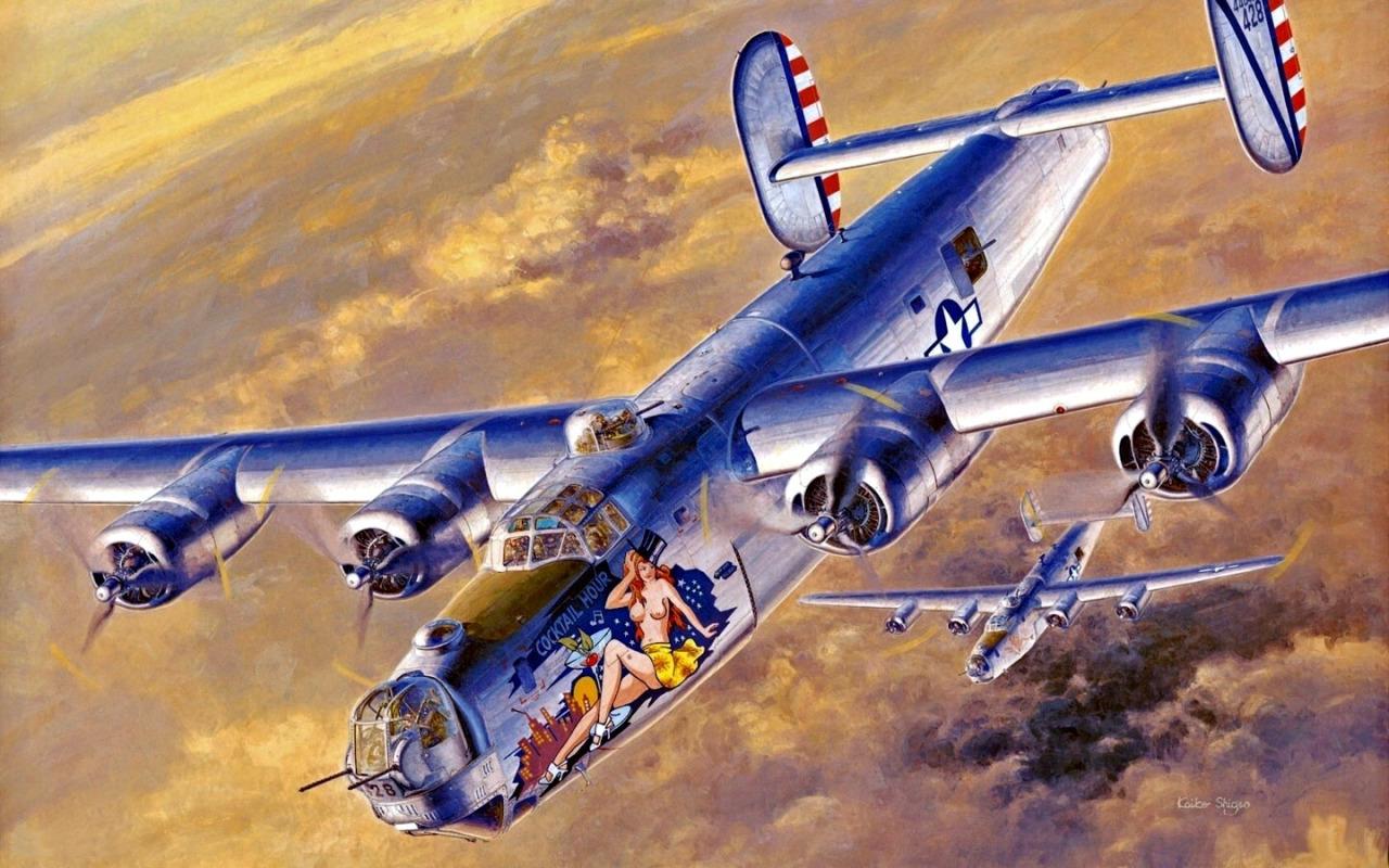 Shigeo Koike. Бомбардировщик В-24 «Liberator».