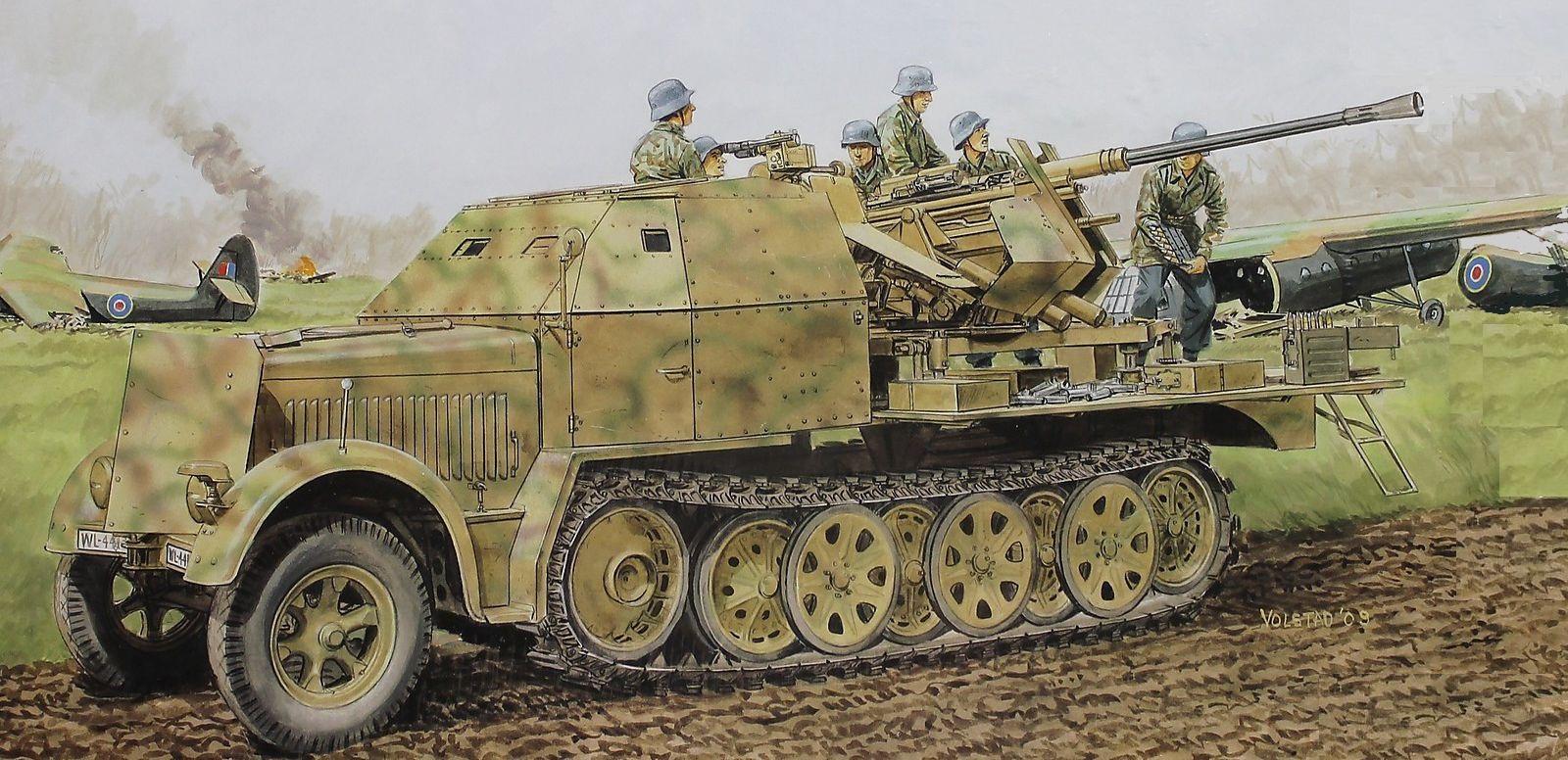 Volstad Ronald. ЗСУ Flak 37 на базе SdKfz 7.