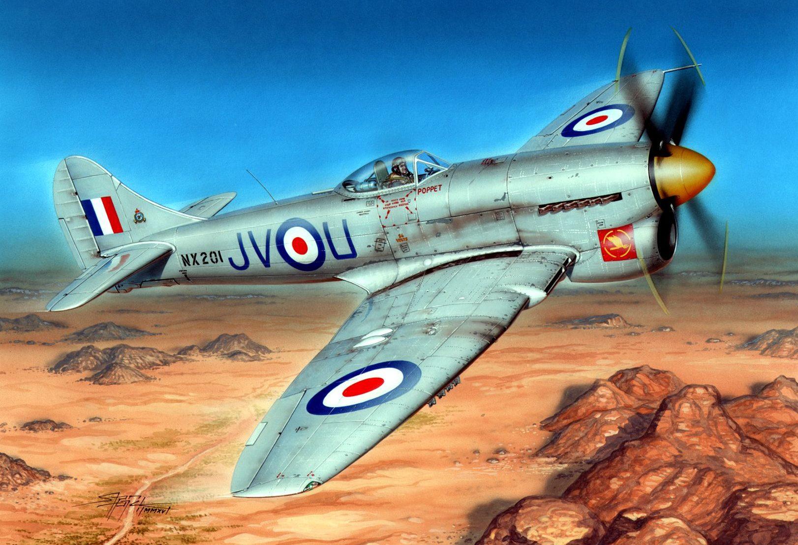 Hajek Stanislav. Истребитель Hawker Tempest Mk.IV.