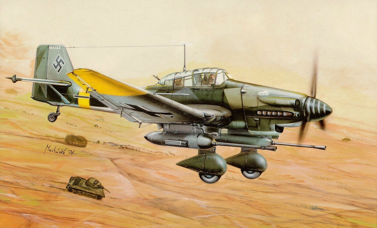 Machácek Zdenek. Пикирующий бомбардировщик Junkers 87G «Stuka».