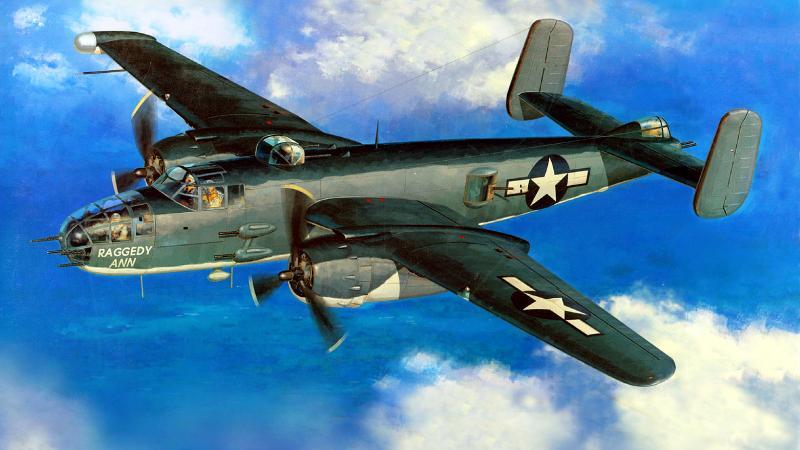 Shigeo Koike. Средний бомбардировщик B-25 «Mitchell».