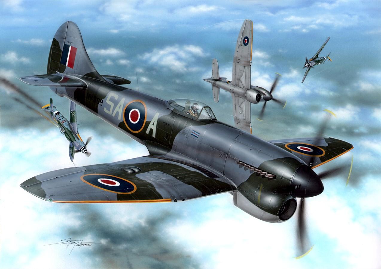 Hajek Stanislav. Истребитель Hawker Tempest Mk.V.