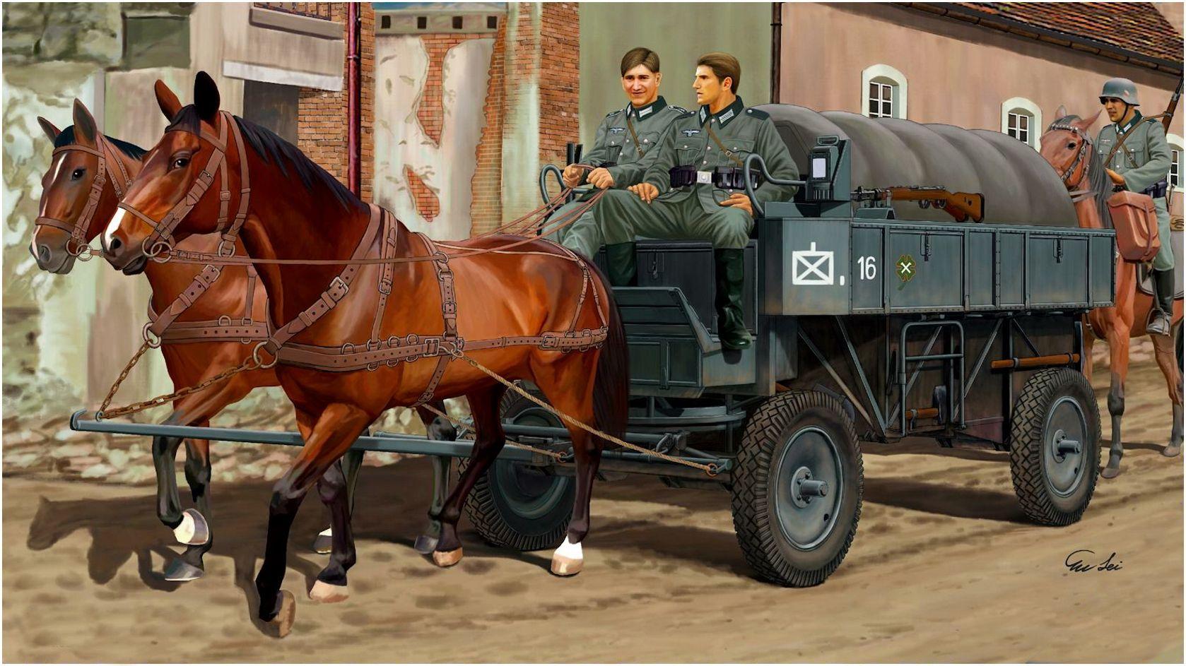Lei Su. Гужевая повозка HF.7 Stahlfeldwagen.