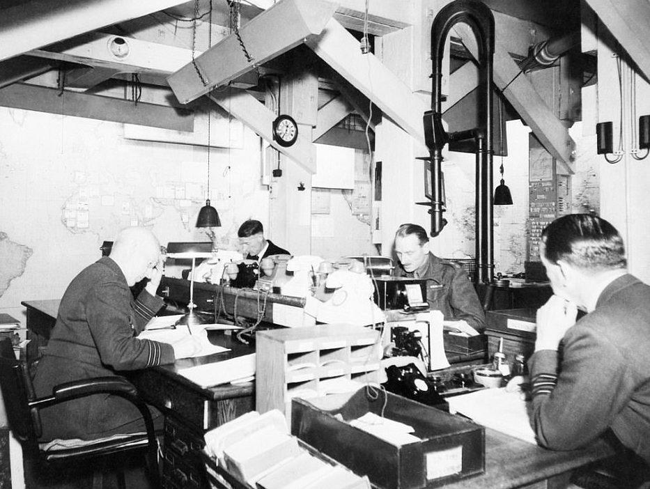 Оперативный отдел во время войны.