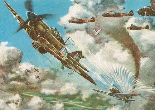 Komatsuzaki Shigeru. Истребитель Spitfire.