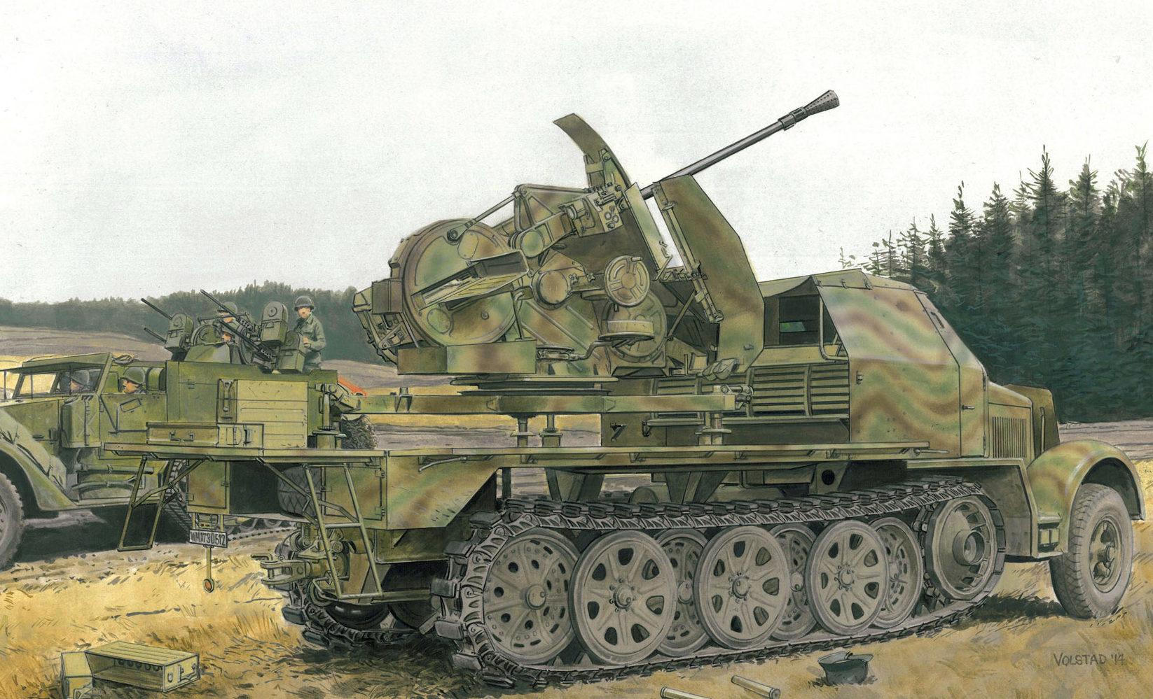 Volstad Ronald. ЗСУ 3.7-cm Flak 43 на базе Sd.Kfz.7.