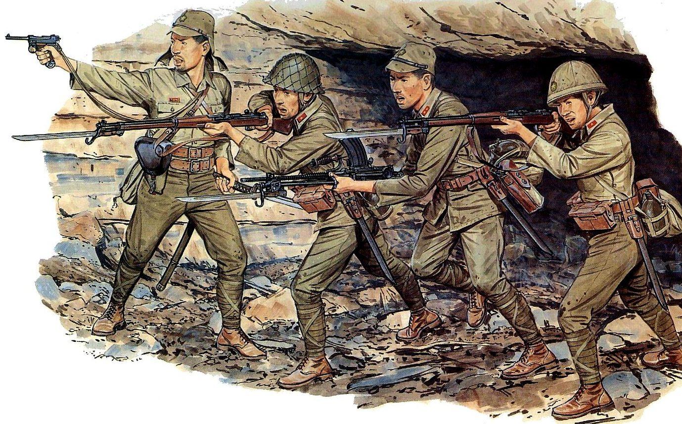 Volstad Ronald. Японские пехотинцы.