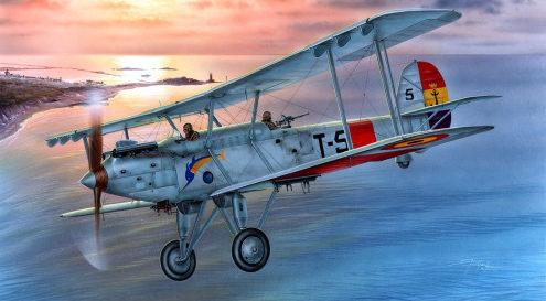 Hajek Stanislav. Истребитель Vickers Vildebeest.