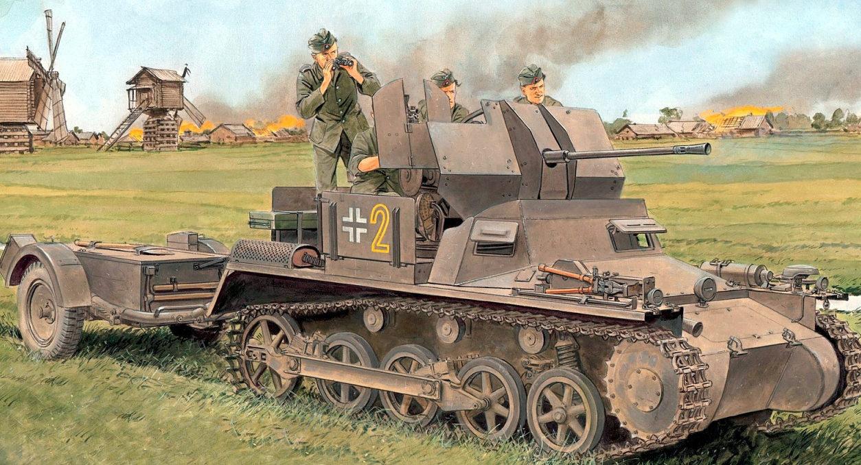 Volstad Ronald. ЗСУ Flakpanzer I.