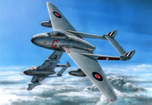 Hajek Stanislav. Истребитель Havilland Vampire.