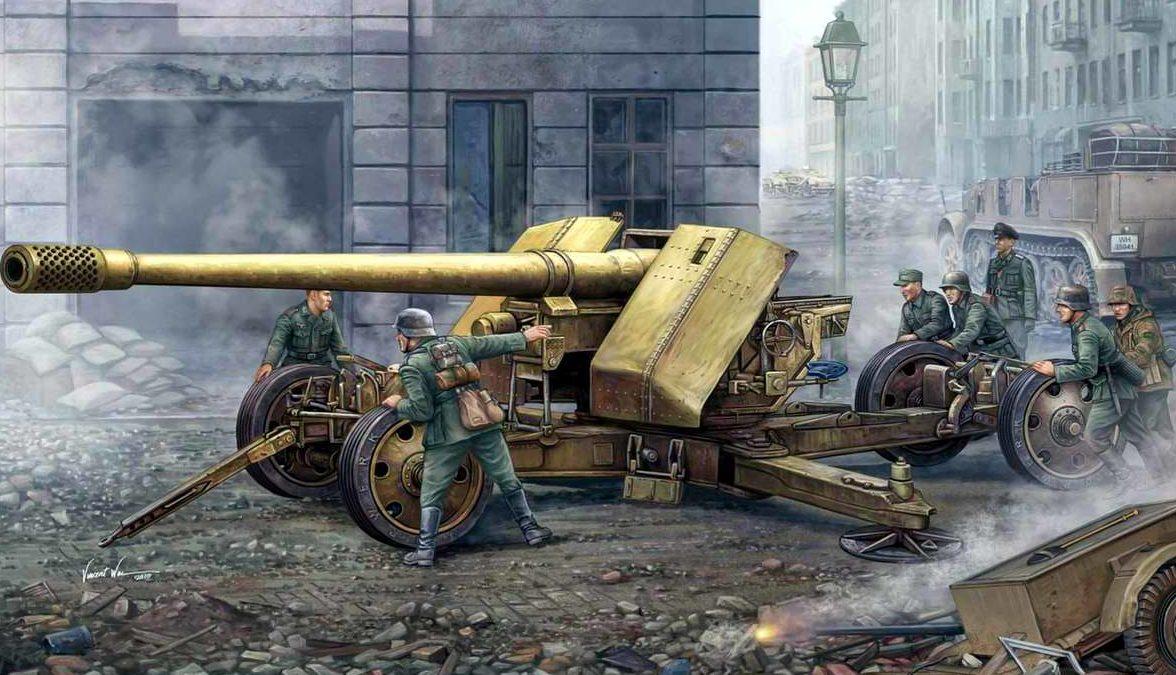 Wai Vincent. Противотанковое 128-мм орудие Pak-44.