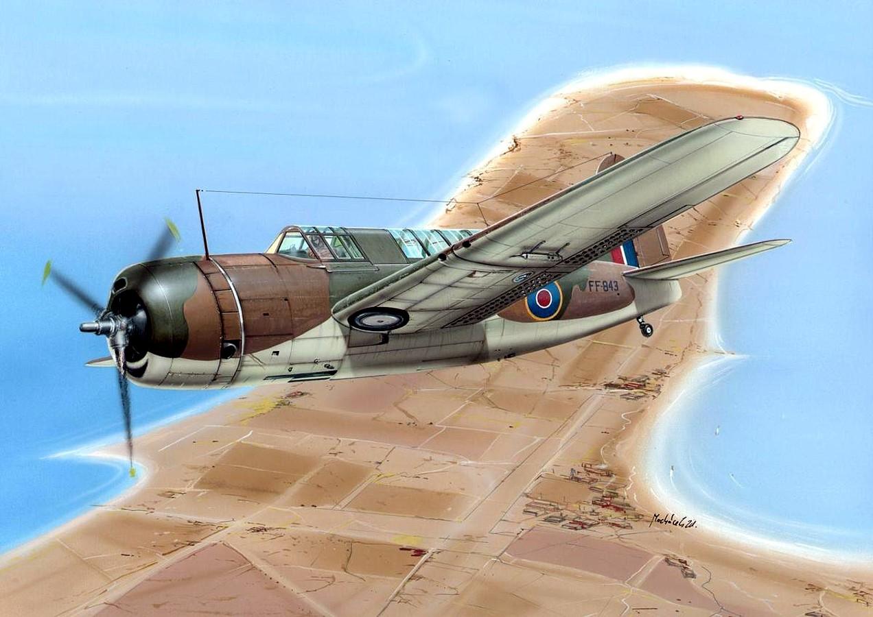 Machácek Zdenek. Бомбардировщик-разведчик Brewster Bermuda Mk.I.